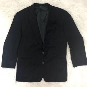 YSL Yves Saint Laurent Black 100% worsted wool